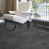 Rondine Living Nero Wood Effect Porcelain Tile 7.5x45cm