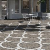 Cobblestone Griege Arc Outdoor Tile 60.5x60.5cm