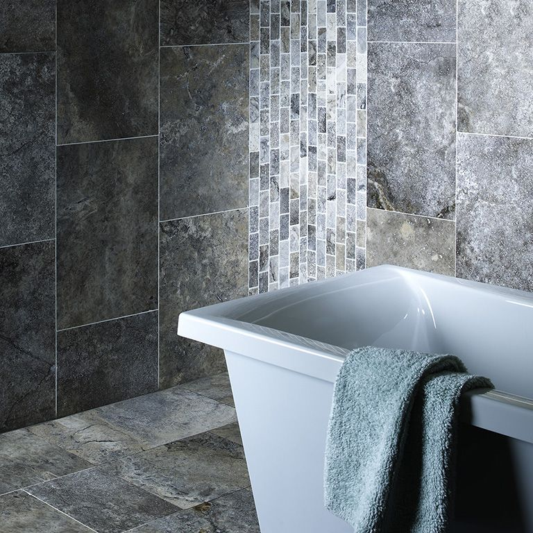 Natural Travertine Silver Tiles