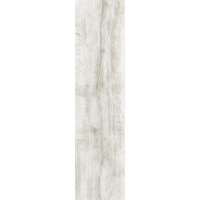 Wild White Wood Effect Porcelain Wall And Floor Tile 15x58cm