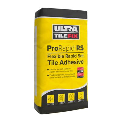 Ultra Tile Adhesive ProRapid RS Rapid Set Flexible Grey 20kg