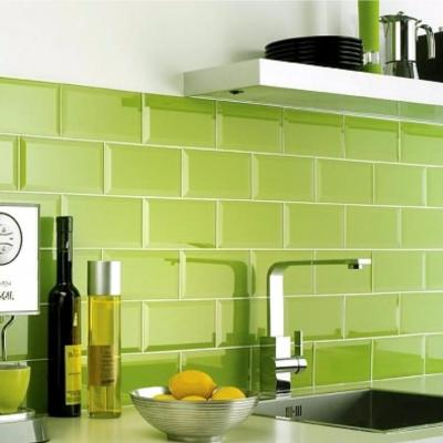 Metro Lime Green Wall Tile 10x20cm