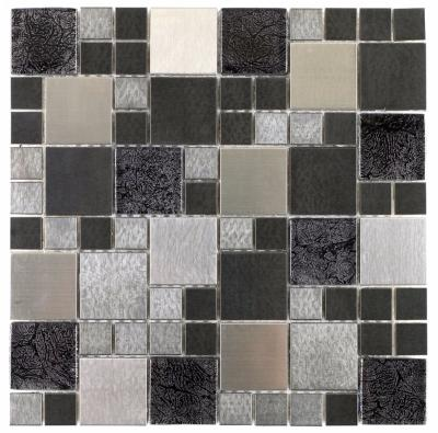Verona Mosaic Metallic Glass Random Mix 30x30cm