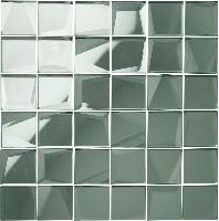 Original Style Glassworks Mosaic Silver Mirror 50mm
