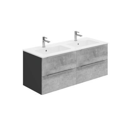 Phoenix I-Zone 120 Wall Mounted Unit & Double Mineral Cast Basin