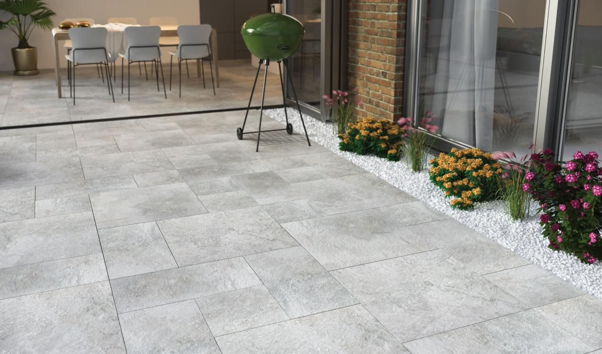 Optimal Grey Outdoor Porcelain Tile 60x90cm