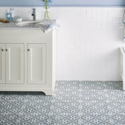 Laura Ashley Inspired Mr Jones Midnight Floor Tile 33x33cm