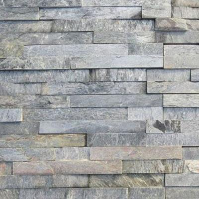Splitface Silver Shine Natural Stone Wall Cladding 15x60cm