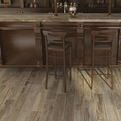 Salvage Brown Aged Wood Effect Porcelain Tile 15x100cm