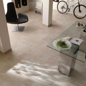 Kairos Bianco Floor Tile Opus Pattern