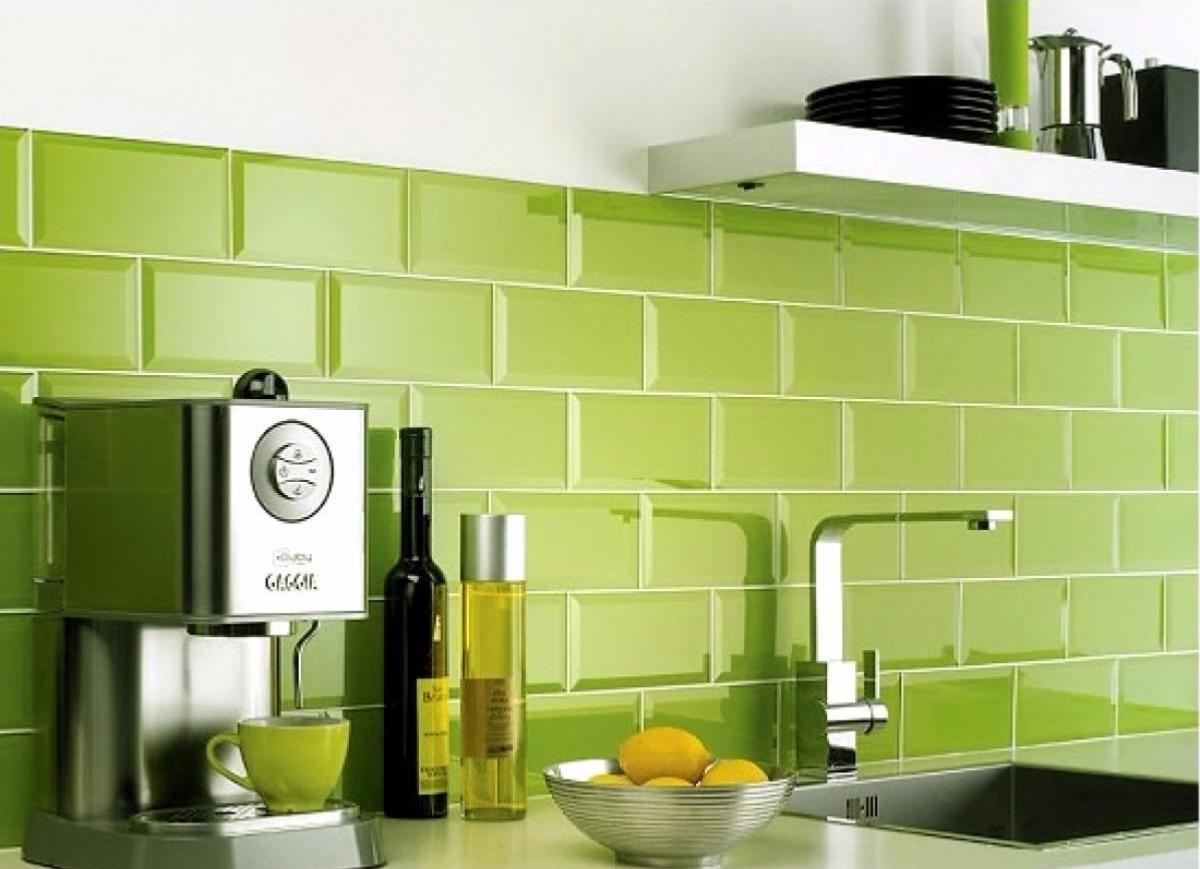 Metro Lime Green Wall Tile 10x20cm Tiles Ahead