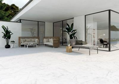 White Marble Effect Outdoor Porcelain Slab Tile 60x60cm