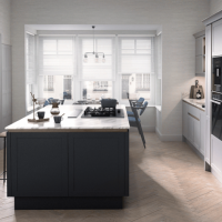Wembury Aluma - Partridge Grey and Graphite Modern Shaker Kitchen