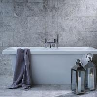 Verona Silver Shadow Grey (Bevelled Edge) Polished Marble W&F 30.5x61cm