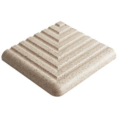 Dorset Step Tread Corner Quartz Quarry Tile 10x10cm