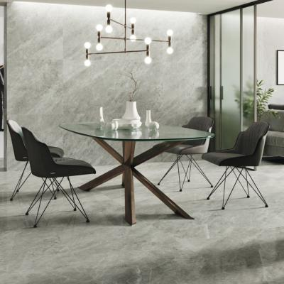 Polished Grey Marble Effect XL Porcelain Tile 80x80cm