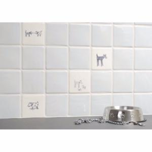 Original Style Classical Spotty Dog Ceramic Tile