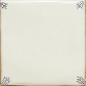 Original Style Classical Delft White Blanc with Corners Ceramic Tile