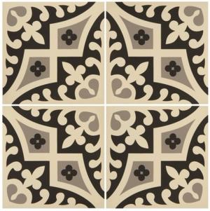 Original Style Odyssey Romanesque Light Grey and Black on White