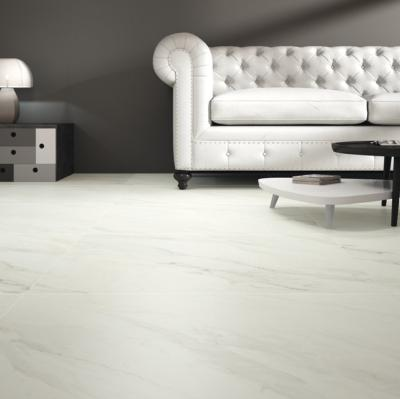 White Marble Effect Matt Porcelain Floor Tile 80x80cm
