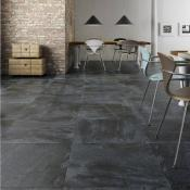 Keraben Nature Black Porcelain Tile 37x75cm
