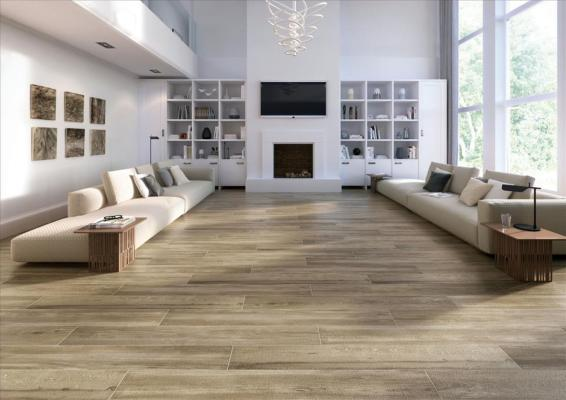 Cleveland Roble Wood Effect Wall&Floor Tile 23x120cm