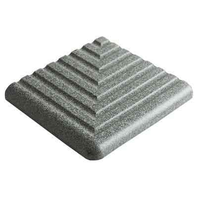 Dorset Step Tread Corner Dark Grey Quarry Tile 10x10cm