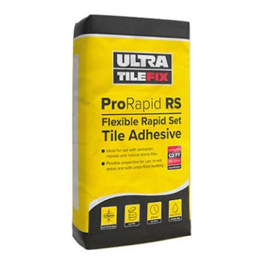 Ultra Tile Adhesive ProRapid RS Rapid Set Flexible White 20kg