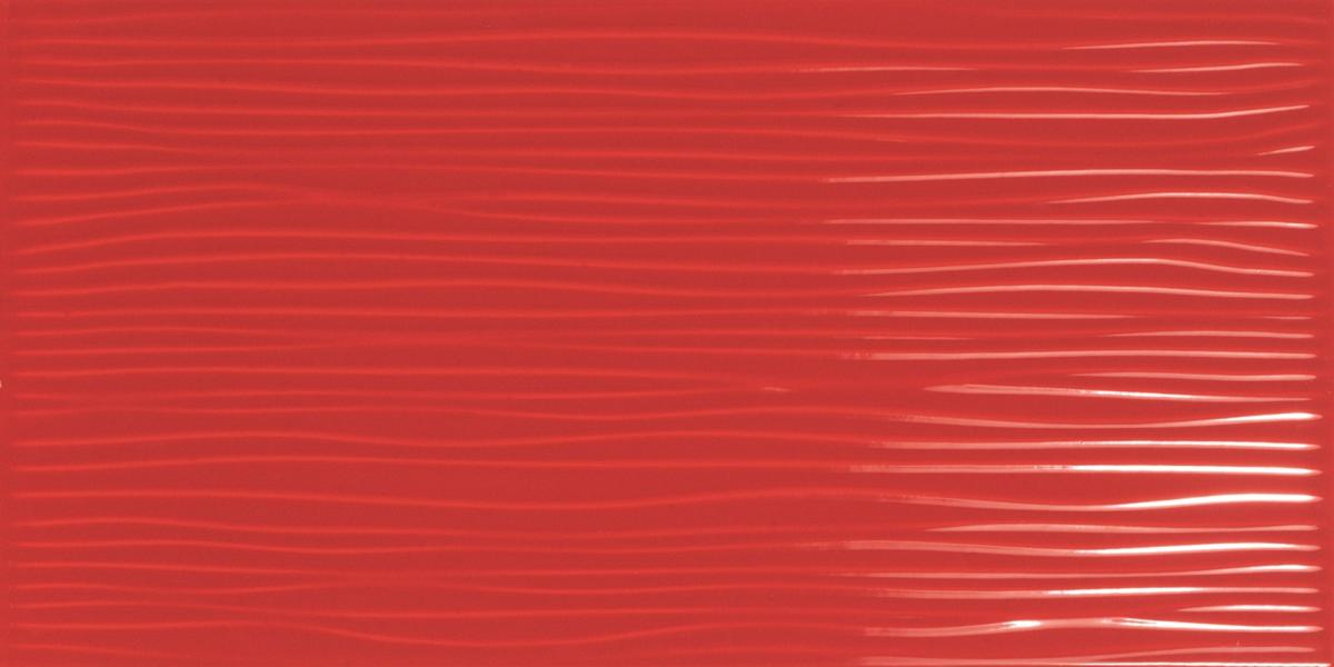 Tendra Wavy Red Wall Tile 30x60cm Tiles Ahead