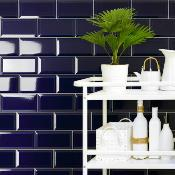 Metro Blue Wall Tile 10x20cm