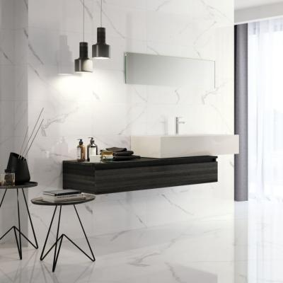 Carrara White Marble Polished Ceramic Wall Tile 30x60cm