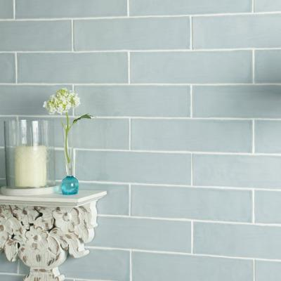 Handmade Duck Egg Ceramic Wall Tile 75x300mm