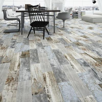 Yurtbay Vintage Blue Wood Effect Porcelain Tile 15x60cm
