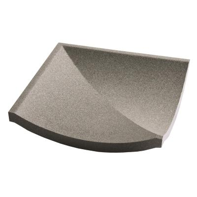 Dorset Channel Corner Dark Grey Quarry Tile 15x15cm