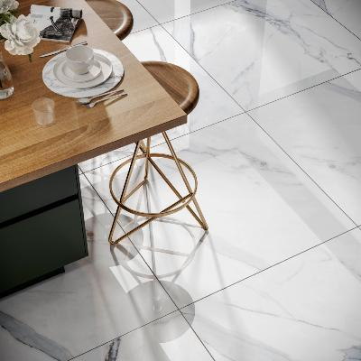 Grande Sofia XL Polished Marble Effect Porcelain Tile 80X80cm