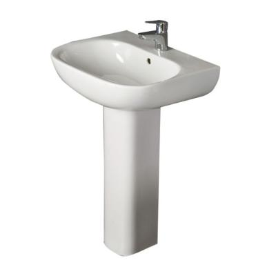 RAK Tonique 1 Tap Hole Basin with Full Pedestal 450mm