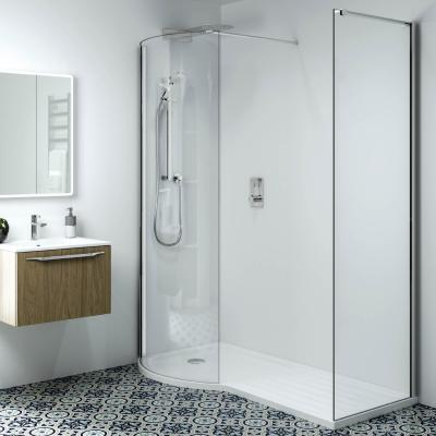 Phoenix Techno 10mm P-Shape Corner LH Shower Enclosure