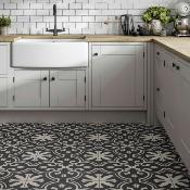 Picasso Patterned Vitrified Ceramic Wall & Floor Tile 250x250mm