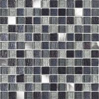 Galactic Black Glass & Metal Mix Mosaic 30x30cm