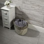 Acadia Bone Wood Effect Porcelain Tile 15x60cm