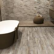 Rondine Living Marrone Wood Effect Porcelain Tile 7.5x45cm