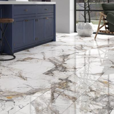 Magica Marble Effect Gloss Porcelain Tile 1200x600x10mm