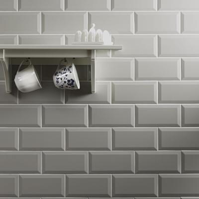 Metro Grey Ceramic Wall Tile 10x20cm