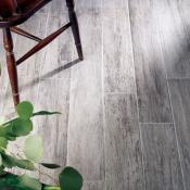 Kielder Dark Grey Wood Effect Porcelain Tile 15x90cm
