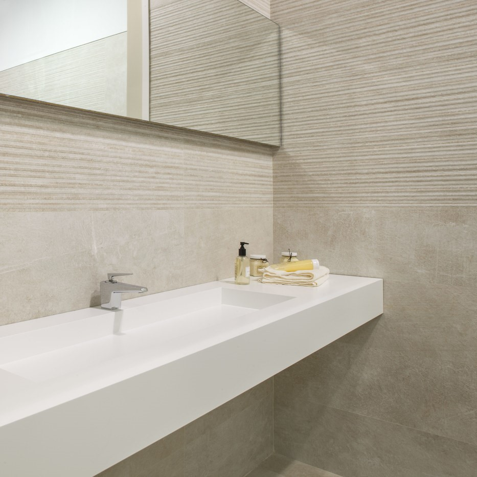 Covent Large Format Stone Effect Bathroom Tiles